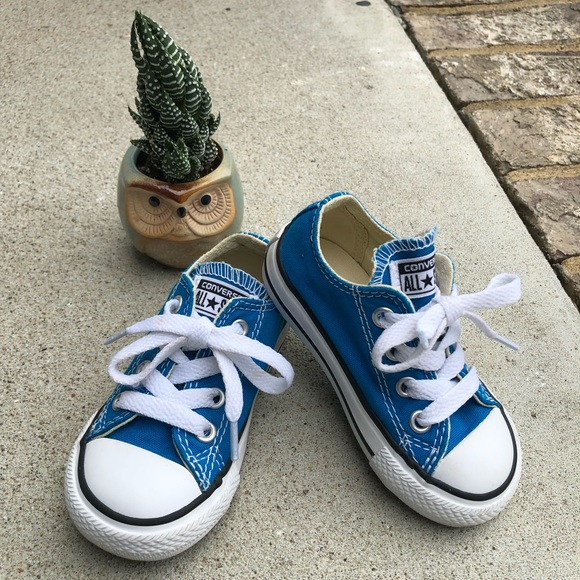 Converse Other - EUC Toddler Size 5 Blue Converse Shoes